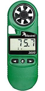 Kestrel 2000 wind and temperature meter