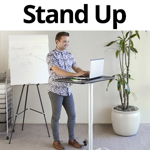 sevilleclassics sit stand mobile height adjustable laptop tablet rolling desk table cart pneumatic