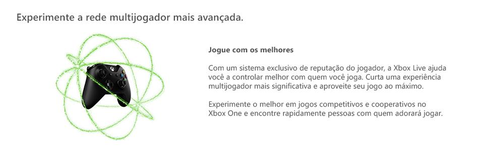 xbox live gold, rede multijogador mais avançada, jogue online, jogue com amigos, xbox live