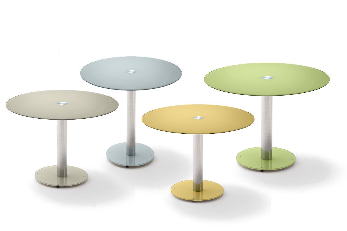 robas lund tisch glastisch k chentisch falko wei rund verchromt 100x 77x 100 cm. Black Bedroom Furniture Sets. Home Design Ideas