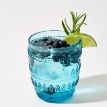Fez Turquoise Old Fashion Drinking Glass