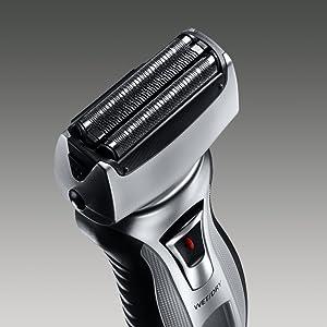 electric razor mens wet dry shaver nanotech blades panasonic es-rt51-s trimmer