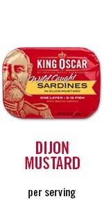 dijon mustard, sardines