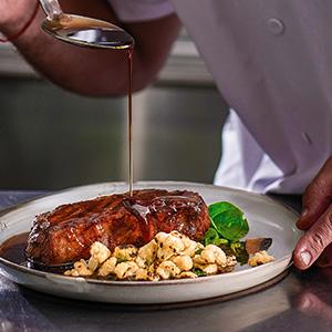 knorr, jus, steak, sauce, chef