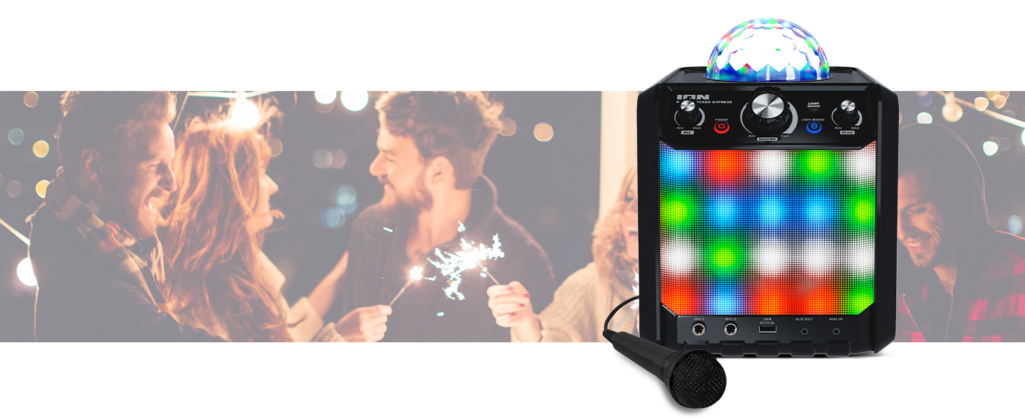 Ion Party Rocker Express   Karaoke Anlage Musikbox Bluetooth ...