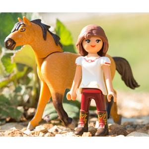 PLAYMOBIL DreamWorks Spirit Establo Fortu y Spirit, a