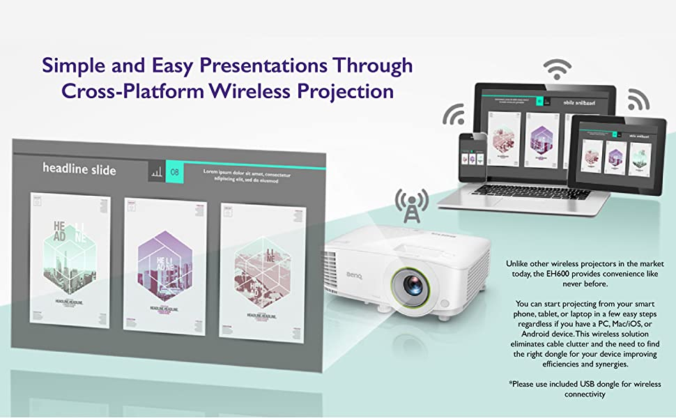 simple and easy wireless projector