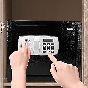 SereneLife DropBox Safe Box | Safes & Lock Boxes | Front Loading Safe Cash Vault Drop Lock