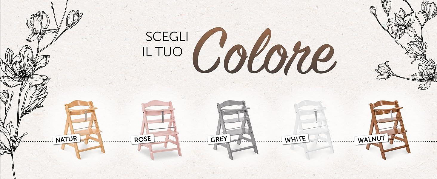 Scegli il tuo colore preferito naturale noce bianco grigio legno vero alpha Hauck