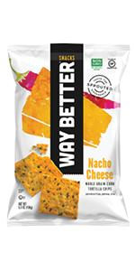 nacho cheese flavor sprouted tortilla chips