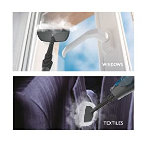 steam capsule steam mop windows textiles