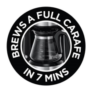 Brews a full carafe in 7 minutes