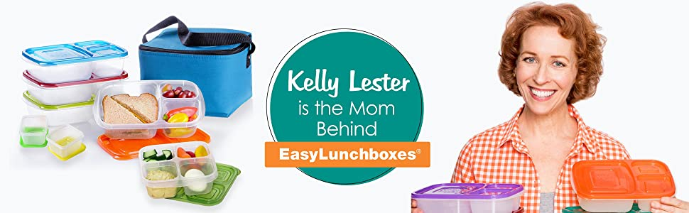 Kelly Lester is the Mom behind EasyLunchboxes