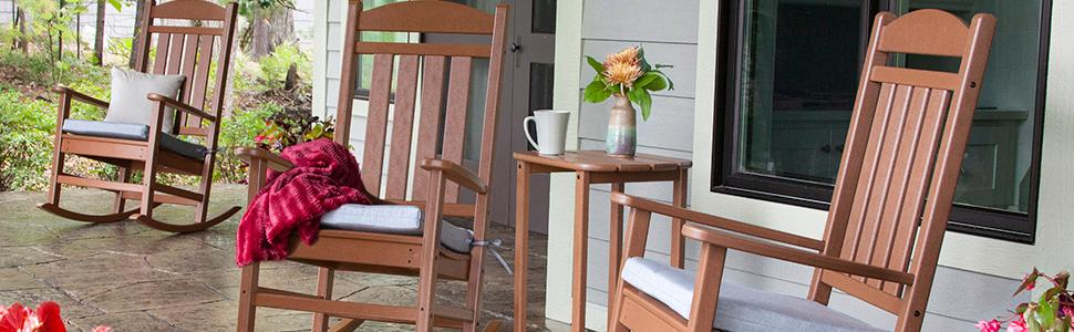 Designed To Perfectly Complement Your Outdoor Space, POLYWOOD Rocking Chairs  Will Give You Years Of Quiet Moments In Your Outdoor Space.