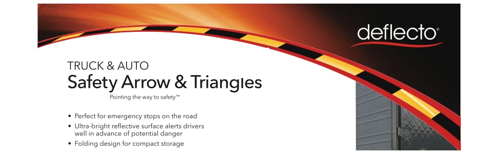 roadside kit, emergency roadside kit, reflective, safety kit, warning triangles, reflective material