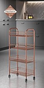 ... ordenación cocina, organizadores cocina, polytherm, cobre, copper, estante, carro,