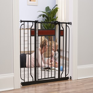 Includes Décor Hardwood, Regalo Home Accents Extra Wide Walk Thru Baby Gate
