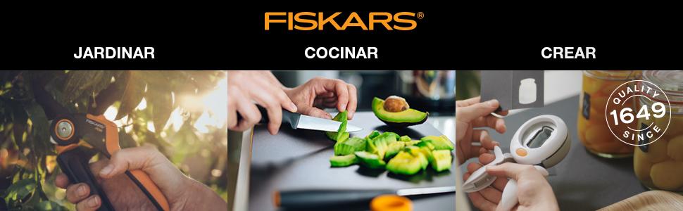 Fiskars SmartFit Tijera de podar, Negro/Naranja