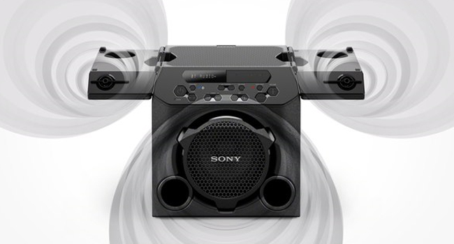 sony gtk pg10 wireless party speaker with built in battery