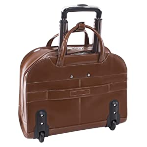 rolling bag leather