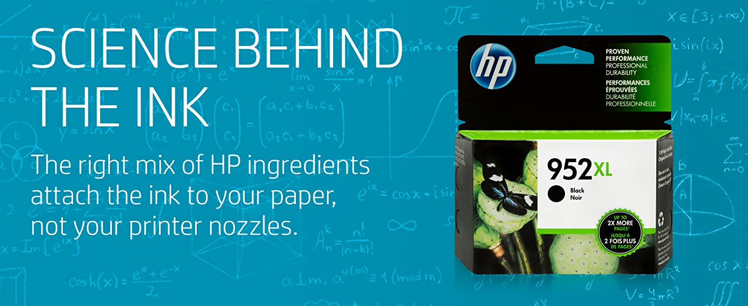 The science behind  ink  Designed  work the first time, every time HP manufactures high quality