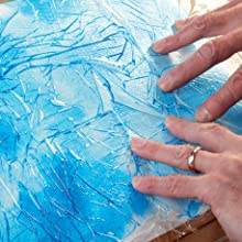 creating patterns in painting,textured painting,paint,clingfilm,plastic wrap,art,patterns,realistic