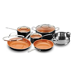 Gotham Steel 10-Piece Kitchen Nonstick Frying Pan Cookware Set