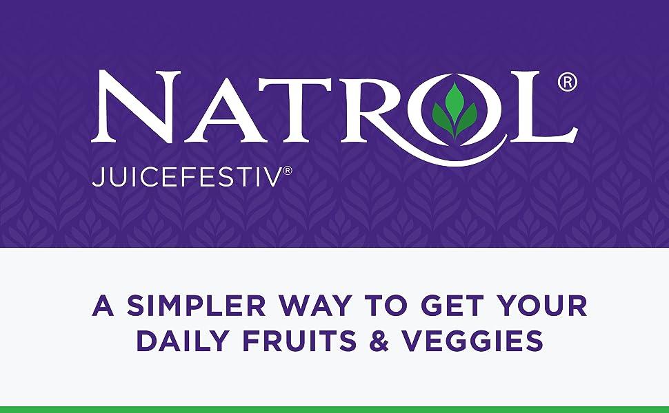 Natrol JuiceFestiv - A simpler way to get your daily fruits amp; veggies