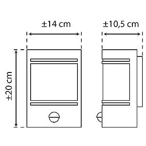 Dimensiones: 200 x 140 x 105 mm.