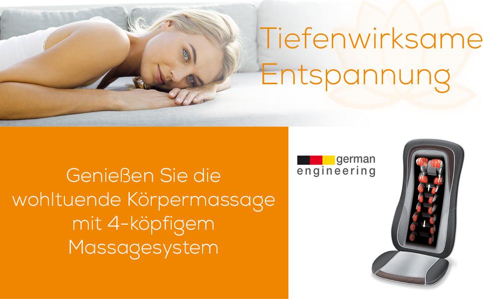 Beurer MG 300 Massageauflage Sitz Entspannung Ruhe Nacken Rücken Verspannung