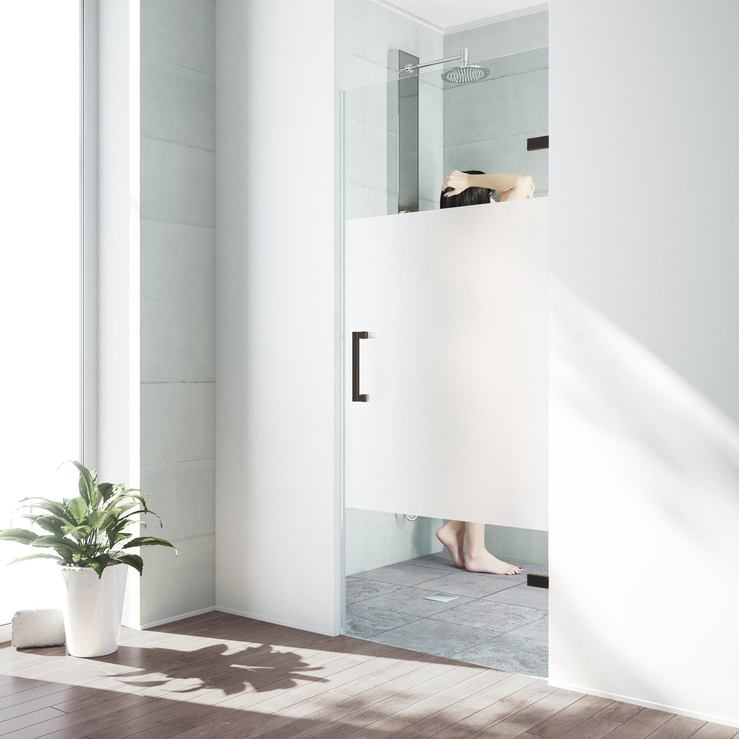 Vigo Soho 28 To 28 5 In Adjustable Frameless Shower Door