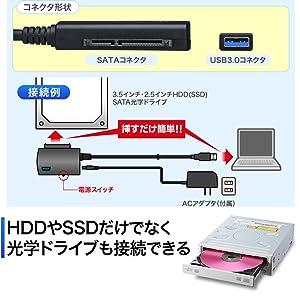 SATA-USB3.0変換ケーブル