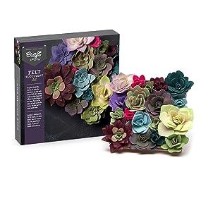 Craft Crush Felt Succulents Kit Amazon
