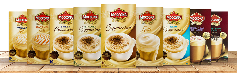 Moccona, Moccona Mixes, coffee flavors, Moccona coffee