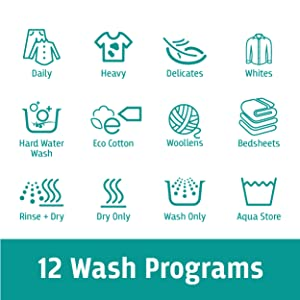 12 Wash Programs