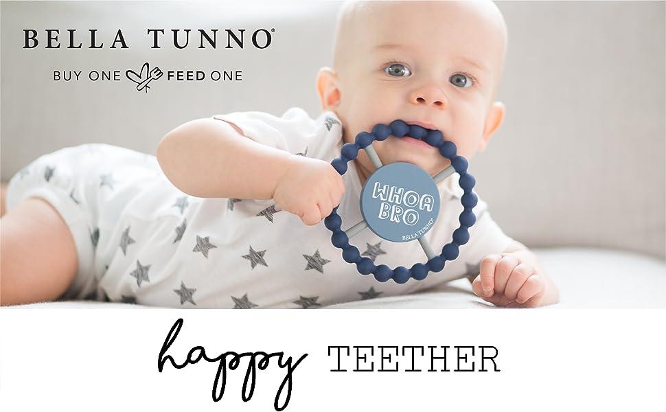 bella tunno, happy teether, teether, easy grip, handle, gentle, soft on gums, teething, baby, soothe