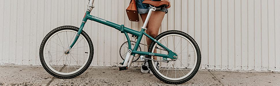 Retrospec Judd Single-Speed Folding Bike with Coaster Brake