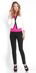 Ankle Leg Slimming Pant for Women wear to Work Pull-On Easy On Stretch Pant for women