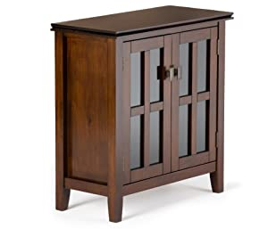 Artisan Low Storage Cabinet  sc 1 st  Amazon.com & Amazon.com: Simpli Home Artisan Solid Wood Low Storage Cabinet ...