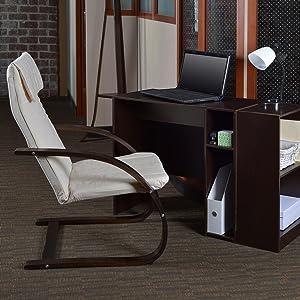 regency, niche, mia, poang, lounge chair, reclining chair, cantilever, mocha walnut, beige, veneer,