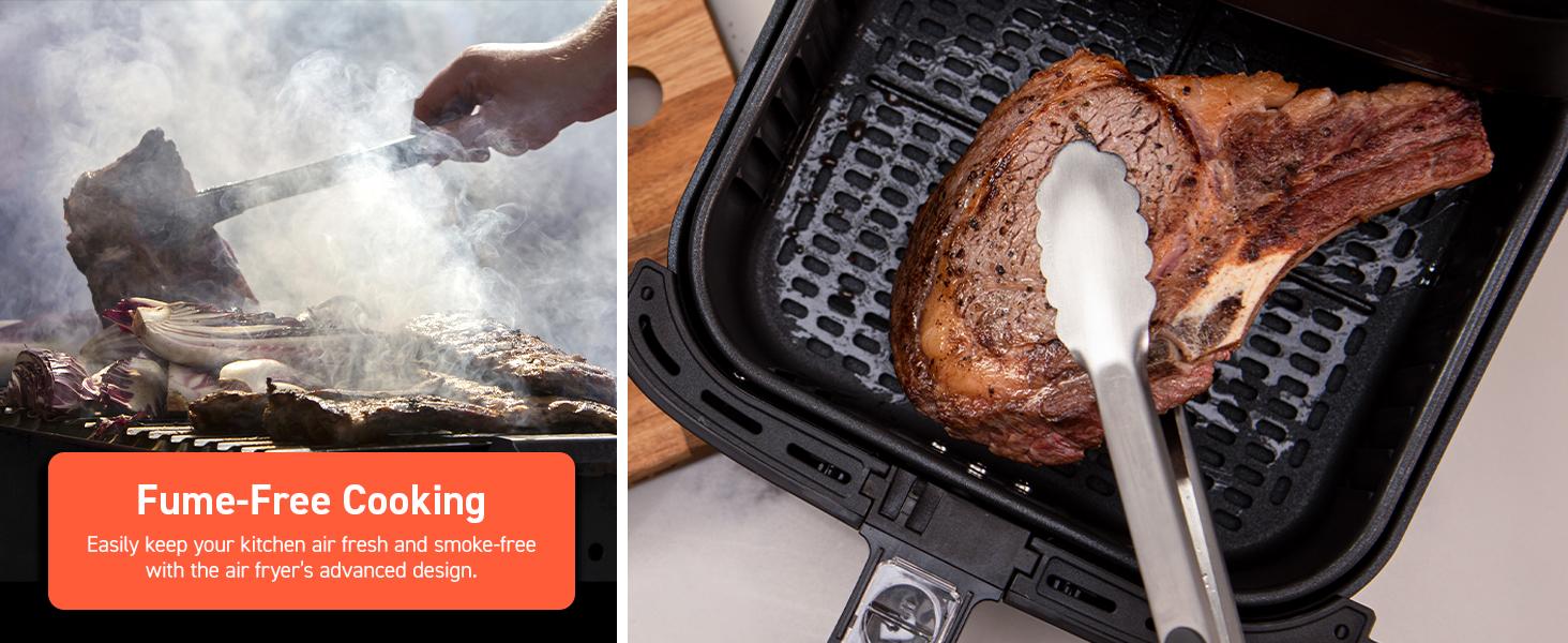 fume-free cooking