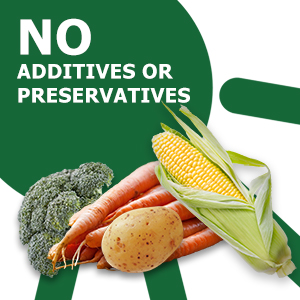 No preservatives or additives, Dehydrated Vegetables, Mother Earth Products