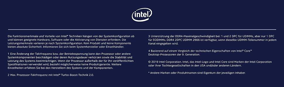 Intel Core I9 9900kf Prozessor Computer Zubehör