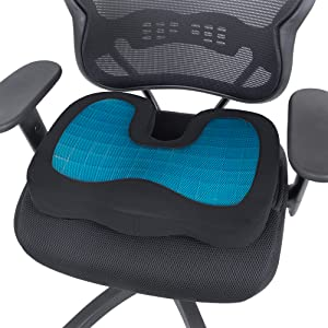 office chair seat cushion pillow lumbar support back pain ache relief