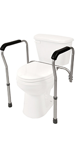 Stupendous Amazon Com Pcp Raised Toilet Seat And Safety Frame Two In Bralicious Painted Fabric Chair Ideas Braliciousco