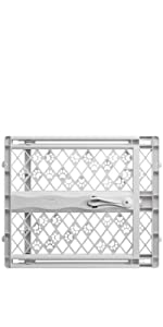 Mypet Windsor Arch 28.5-inch Pet Gate Includes Two Extensions Double Locking Safety Gates Baby Safety & Health