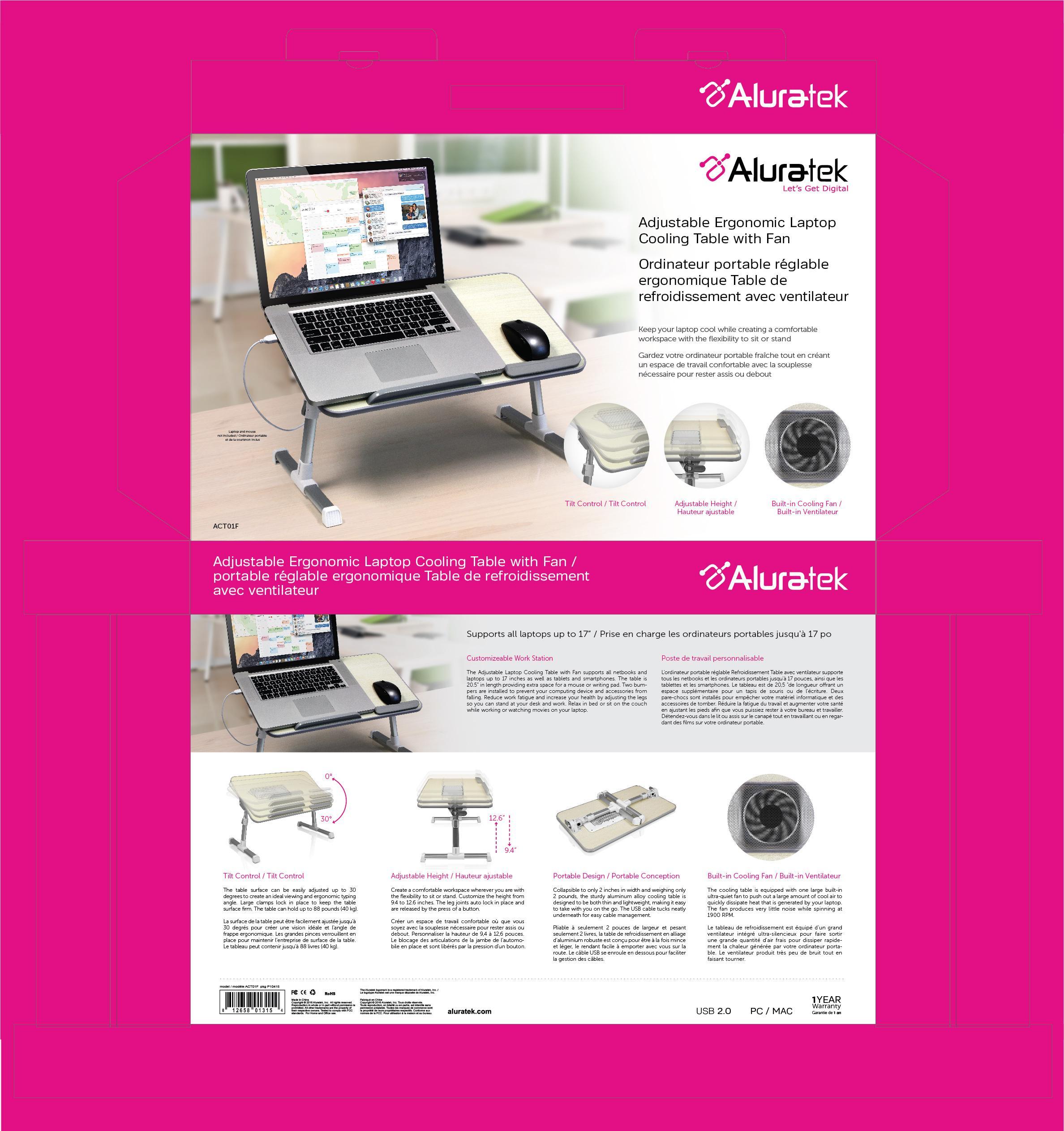 Amazon.com: Aluratek (ACT01F) Adjustable, Foldable