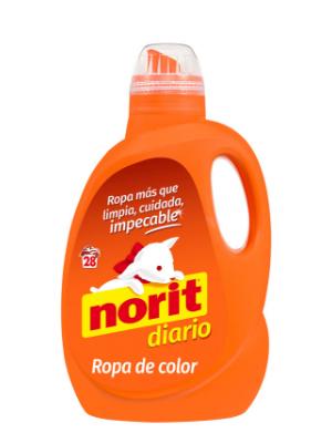 Norit - Detergente líquido para ropa de color, 28 lavados, 1500ml ...