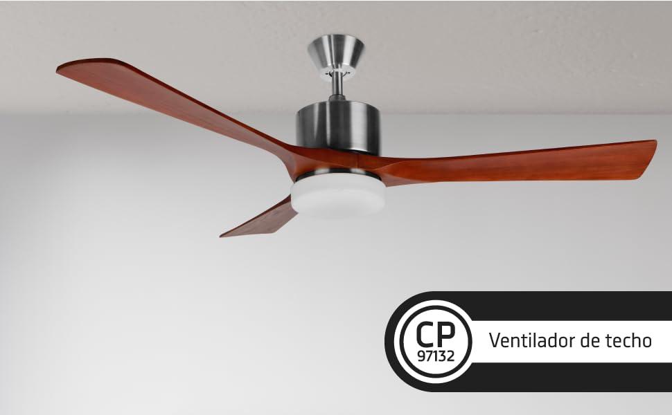 Orbegozo CP 97132 Ventilador de techo, 3 velocidades, silencioso ...