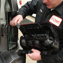 CURT Vehicle Trailer Wiring Installation
